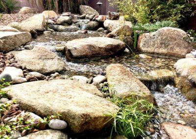 Close Up of Pondless Water Fall and Big Rocks