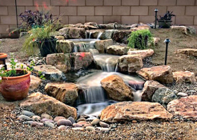 Backyard Decorative Pondless Waterfall