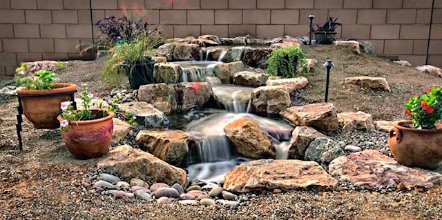 Backyard Decorative Pondless Waterfall