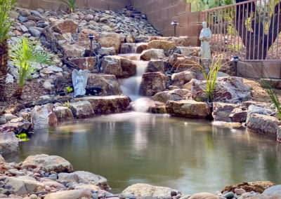Pond with waterfall in Oro Valley