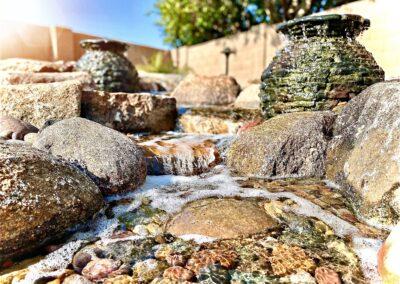 Backyard Waterfall with Fountains